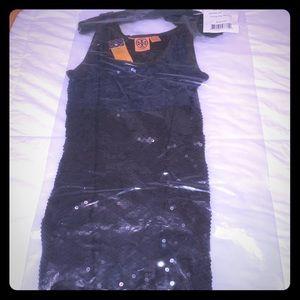 Lucinda Tory Burch Sequin blue/black mini dress
